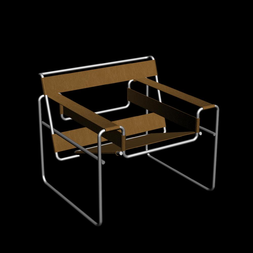 wassily modell b3 stuhl einrichten planen in 3d. Black Bedroom Furniture Sets. Home Design Ideas