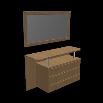 kommode mit spiegel einrichten planen in 3d. Black Bedroom Furniture Sets. Home Design Ideas