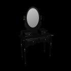 Schminkkommode in schwarz für die 3D Raumplanung