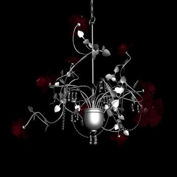Kronleuchter Rosé Silber