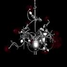 Kronleuchter Rosé Silber für die 3D Raumplanung