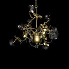 Kronleuchter Rosé gold für die 3D Raumplanung