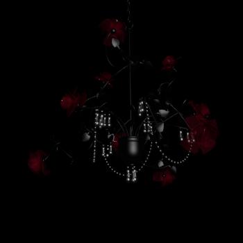 Kronleuchter Rosé schwarz