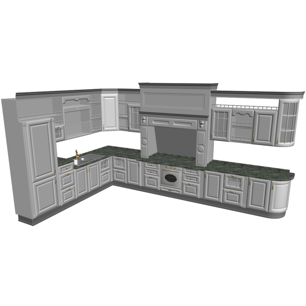 einbauk che einrichten planen in 3d. Black Bedroom Furniture Sets. Home Design Ideas
