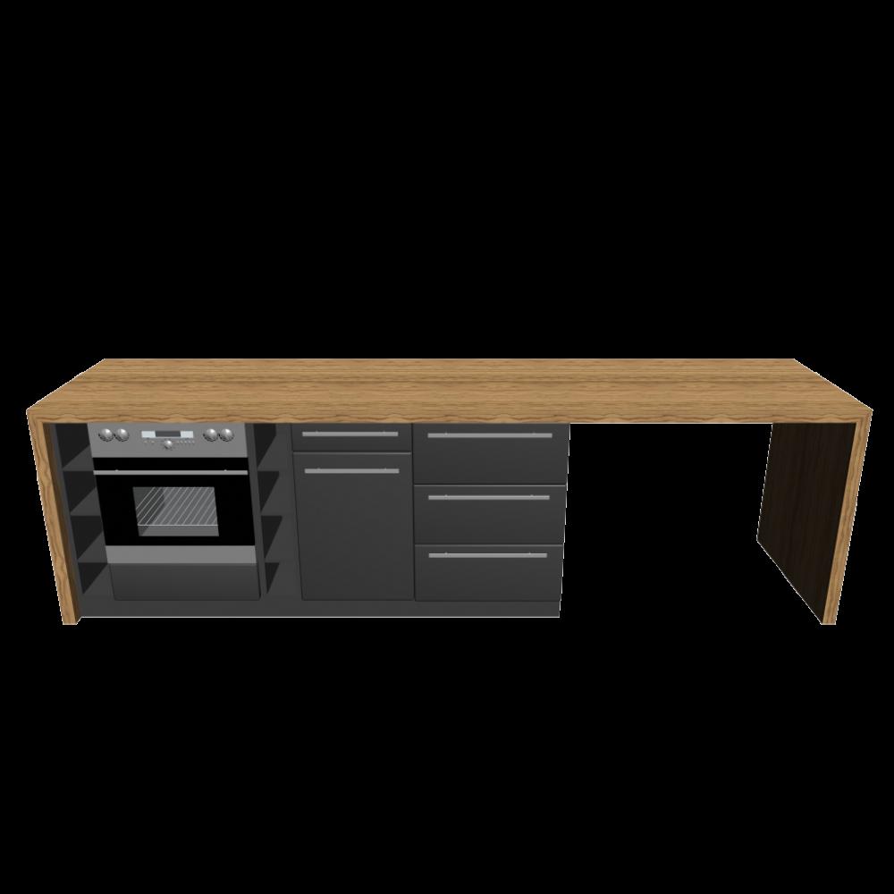 k cheninsel einrichten planen in 3d. Black Bedroom Furniture Sets. Home Design Ideas