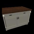 Kücheninsel im Landhausstil für die 3D Raumplanung