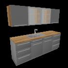 Küchenzeile für die 3D Raumplanung