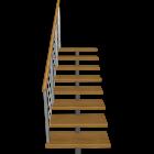 kurze Treppe einläufig links für die 3D Raumplanung