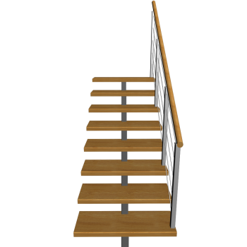 kurze Treppe einläufig rechts