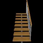 kurze Treppe einläufig rechts für die 3D Raumplanung