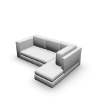 L-Form Couch für die 3D Raumplanung