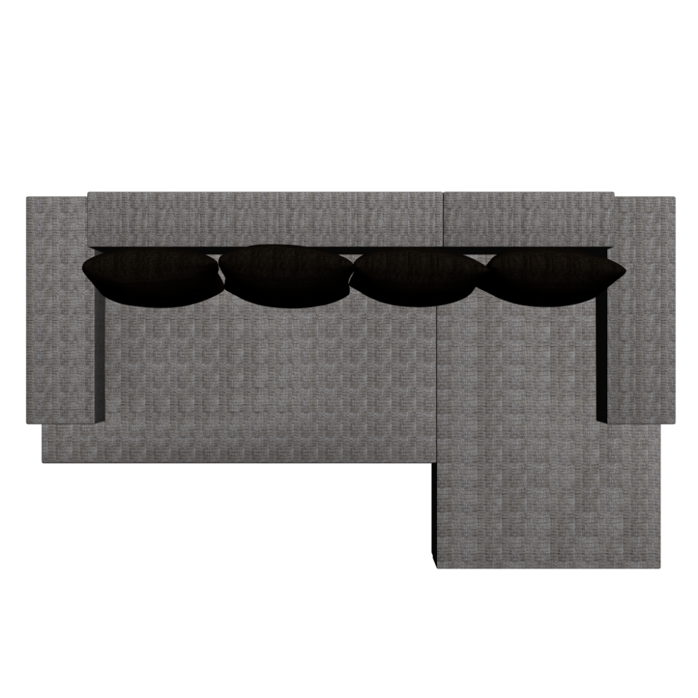 l form couch mit strukturstoffbezug einrichten planen in 3d. Black Bedroom Furniture Sets. Home Design Ideas
