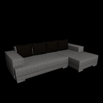 L-Form Couch mit Strukturstoffbezug