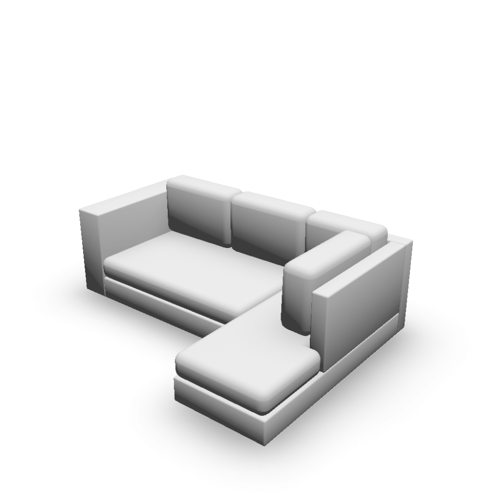 l form sofa design and decorate your room in 3d. Black Bedroom Furniture Sets. Home Design Ideas