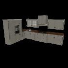 Landhausküche für die 3D Raumplanung