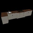 Landhausstil Küche für die 3D Raumplanung