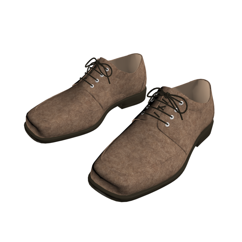 leather shoes design and decorate your room in 3d