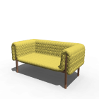 Ruché 2 seater for your 3d room design