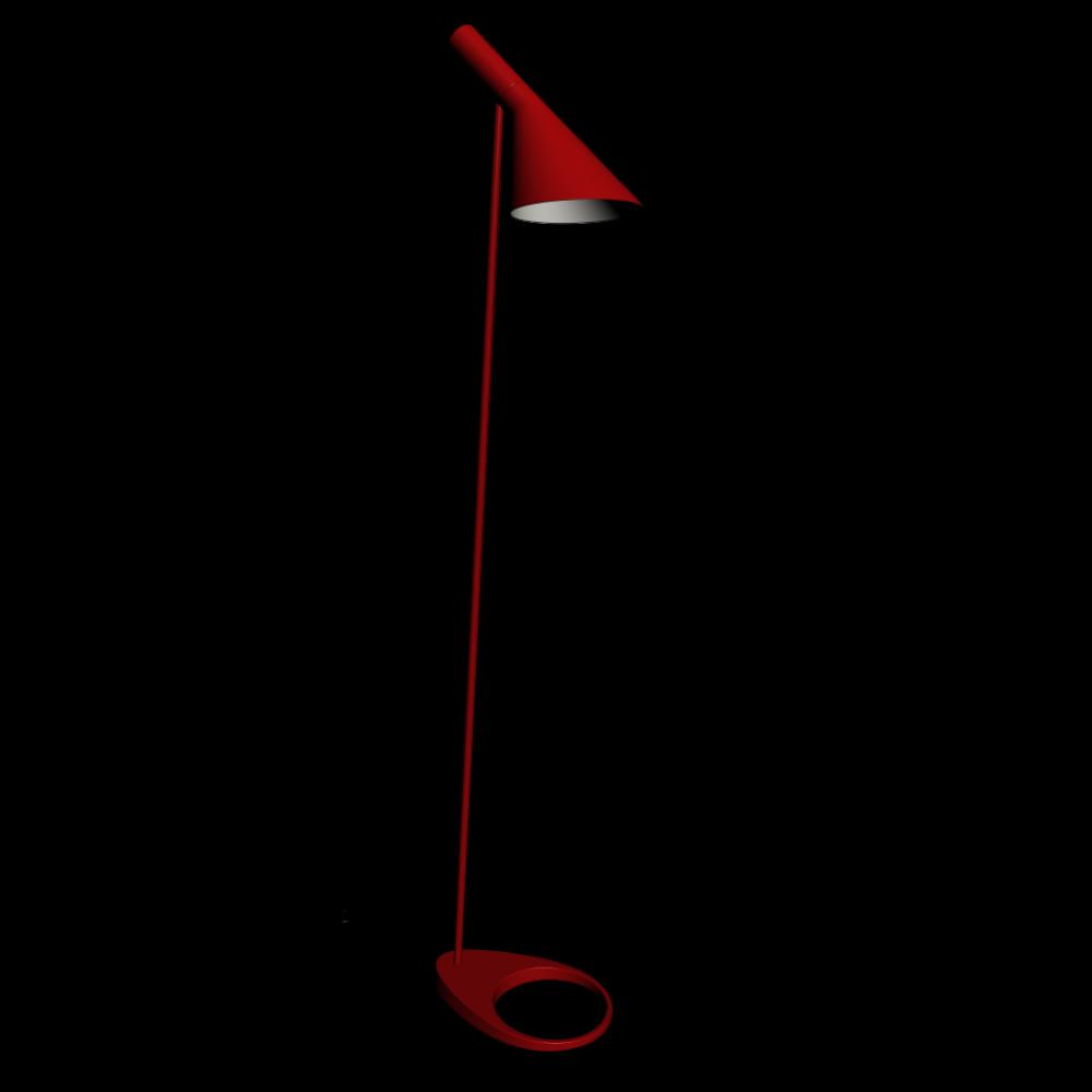 AJ Stehleuchte rot - Einrichten & Planen in 3D