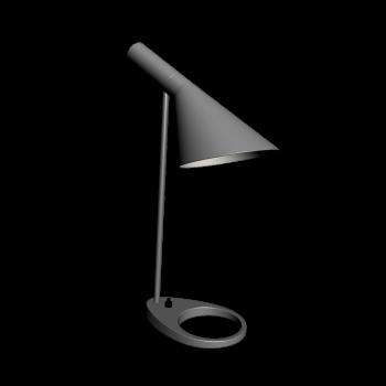 AJ Table graphite gray by Louis Poulsen