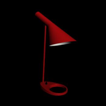 AJ Tischleuchte rot von Louis Poulsen