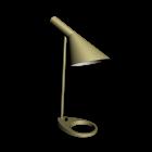 AJ Tischleuchte gelb-grün für die 3D Raumplanung