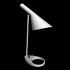 AJ Tischleuchte weiß für die 3D Raumplanung