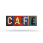 Café metal wall plaque, aged finish by Maisons du Monde