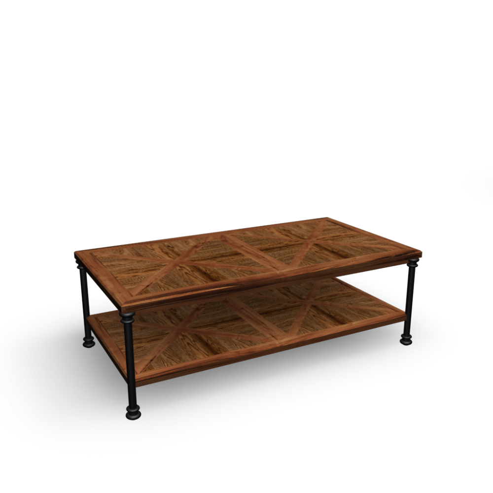 Coffee table fontainebleau design and decorate your room for Table maison du monde d occasion