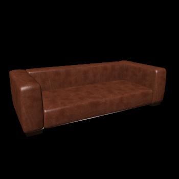 Leather sofa , seats 3/4 JOHN by Maisons du Monde