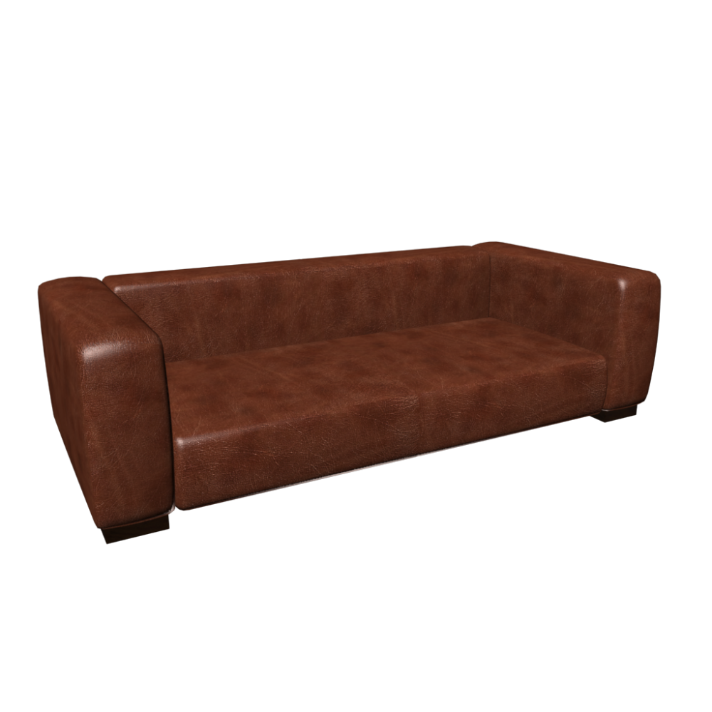 Leather sofa seats 3 4 john design and decorate your for Sofas maison du monde