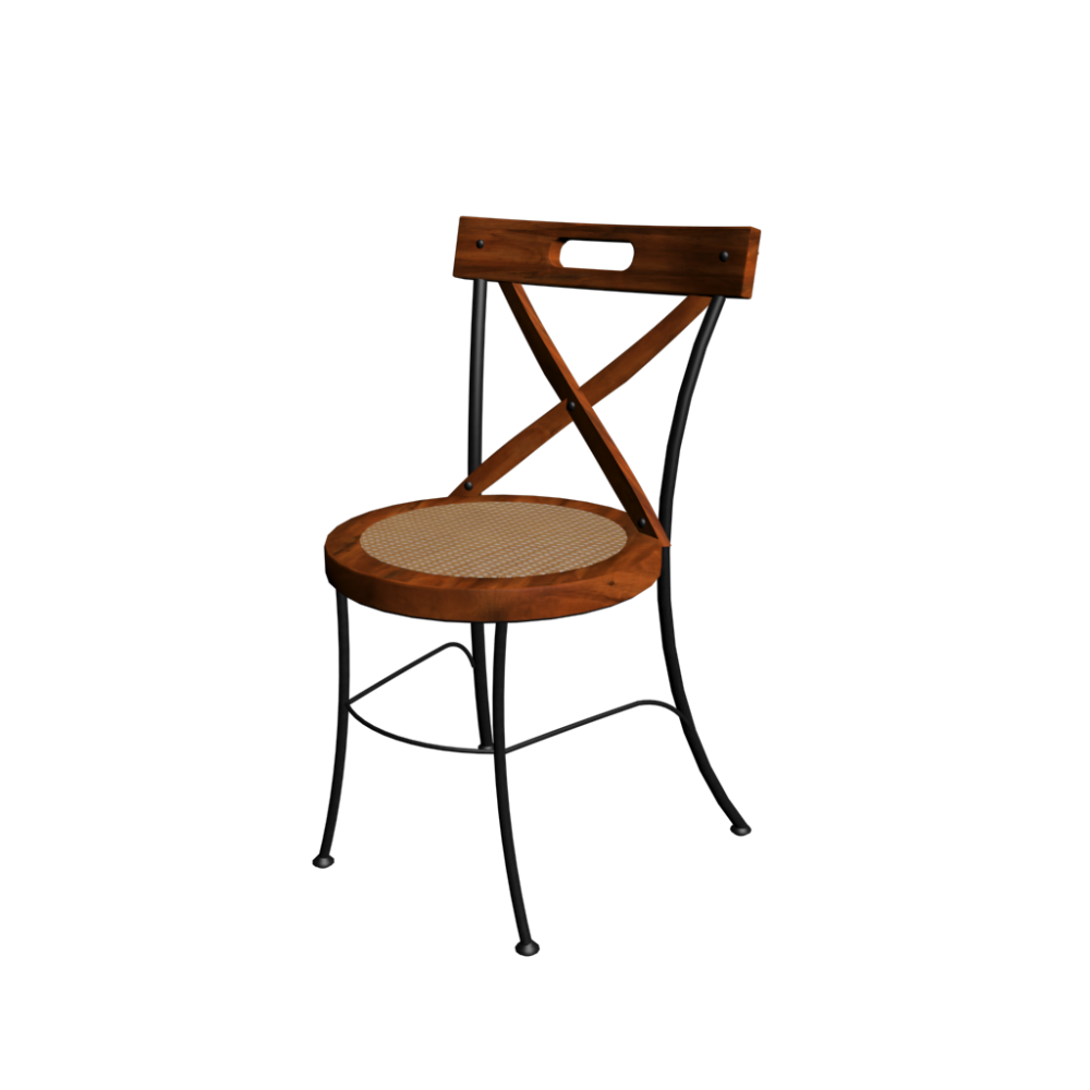 X backed chair lub ron design and decorate your room in 3d for Chaise fer et bois