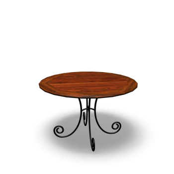 Round dining table LUBÉRON by Maisons du Monde