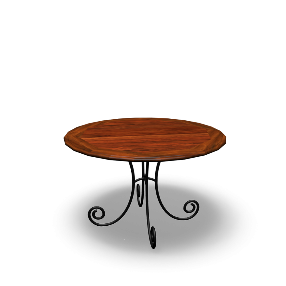 round dining table lub ron design and decorate your room in 3d. Black Bedroom Furniture Sets. Home Design Ideas