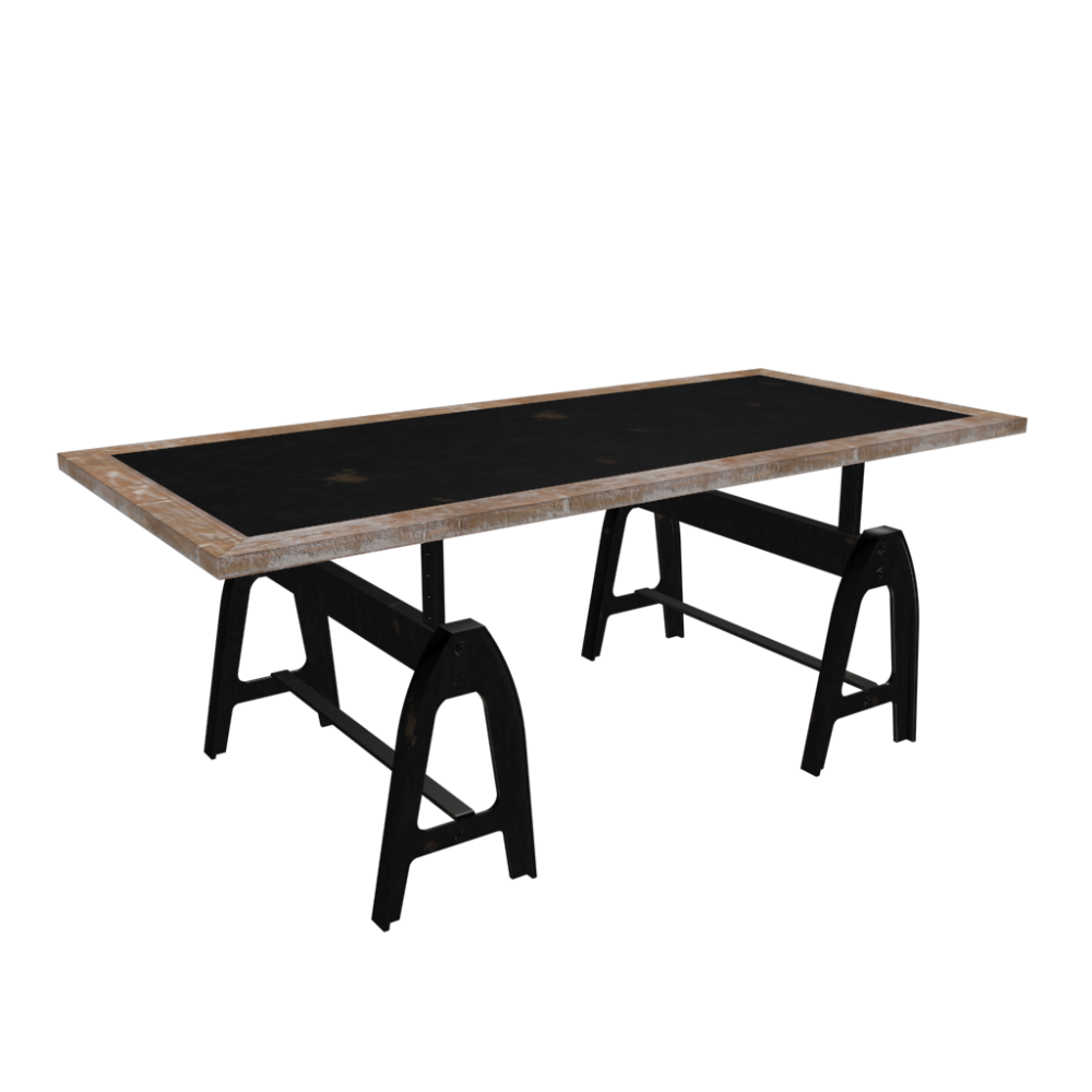 Dining table metropolitan design and decorate your room in 3d - Maisons du monde table ...