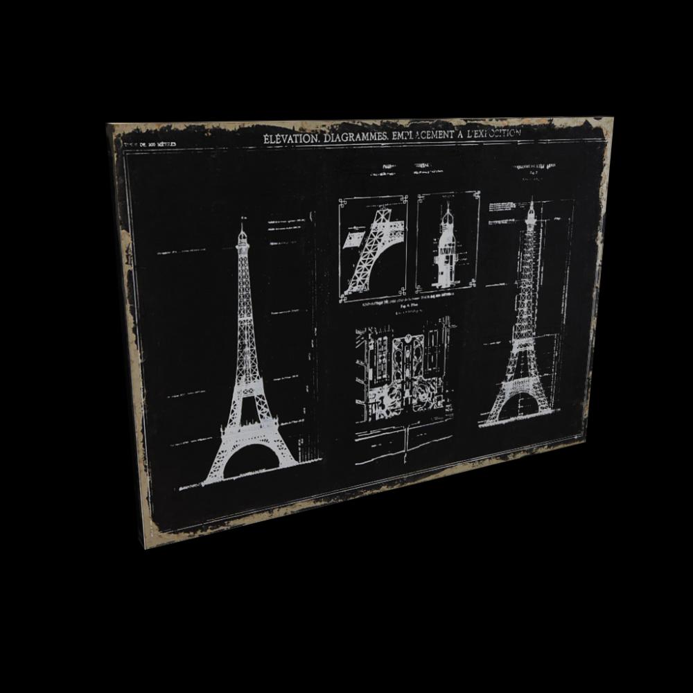 paris sketch canvas print design and decorate your room. Black Bedroom Furniture Sets. Home Design Ideas