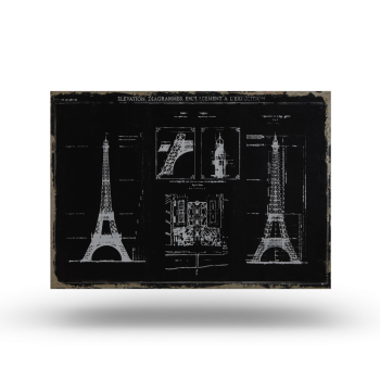 paris sketch canvas print design and decorate your room. Black Bedroom Furniture Sets. Home Design Ideas