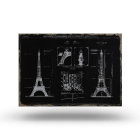 Paris Sketch canvas print by Maisons du Monde