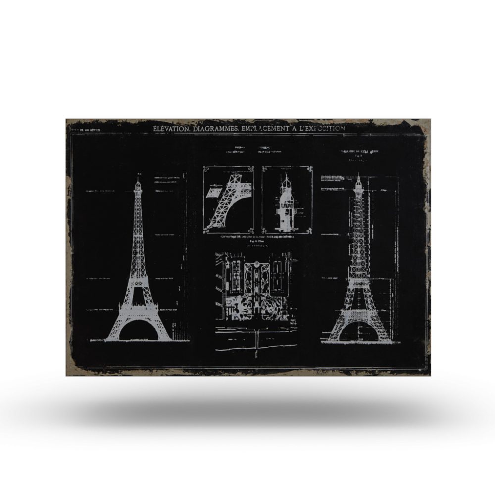 Paris sketch canvas print design and decorate your room in 3d - Maison de monde paris ...
