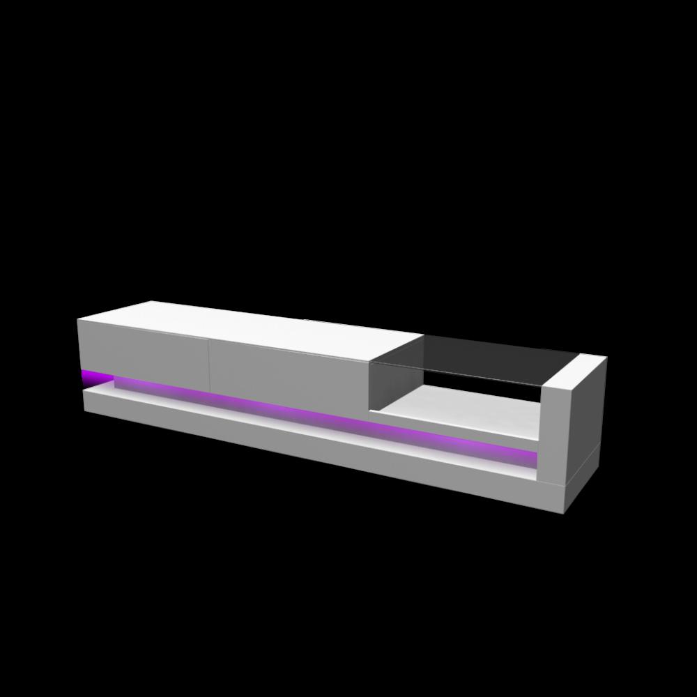 lowboard shot mit violetten led licht an einrichten planen in 3d. Black Bedroom Furniture Sets. Home Design Ideas