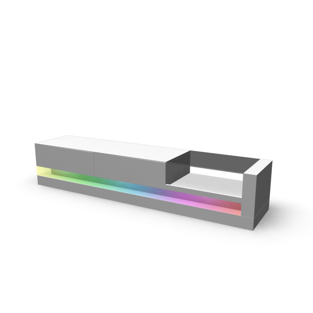 lowboard shot mit rgb led licht an einrichten planen in 3d. Black Bedroom Furniture Sets. Home Design Ideas