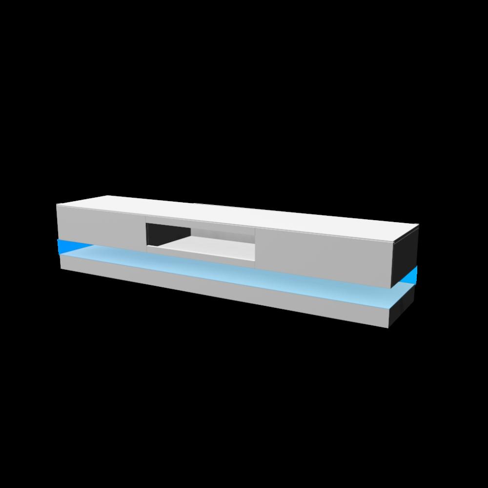 lowboard spot mit blauen led licht an einrichten. Black Bedroom Furniture Sets. Home Design Ideas