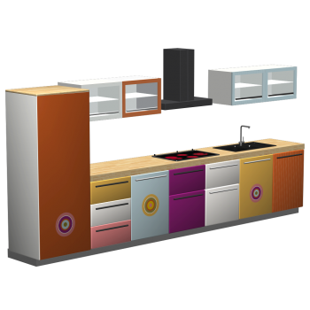 Kitchenette with theme IDA by monofaktur