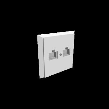 Netzwerkdose mit 2 Anschlüssen