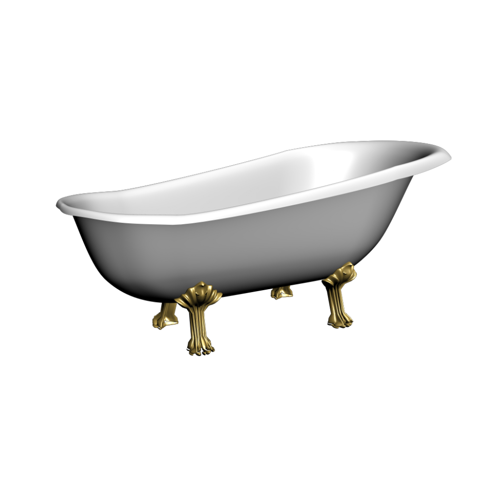 Old bath tub - Design and Decorate Your Room in 3D