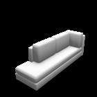 Récamiere lang links für die 3D Raumplanung