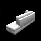 Récamiere lang rechts für die 3D Raumplanung