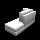 Récamiere rechts für die 3D Raumplanung
