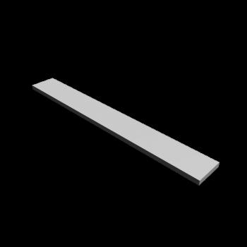 Regalboden 200 x 25 cm in Weiß