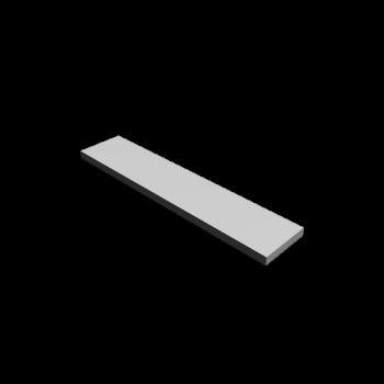 Regalboden 120 x 15 cm in Weiß